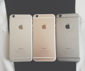 gold and iphone image