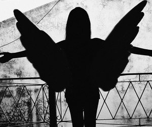 angel, dark, and fly image