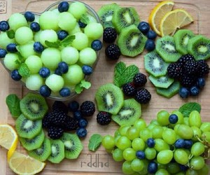 fruit, food, and green image