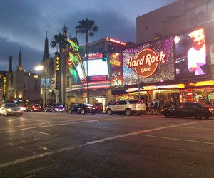 by night, hard rock cafe, and hollywood image