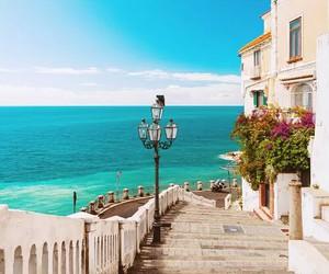 sea, beautiful, and blue image