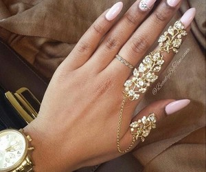 nails, pink, and accessories image