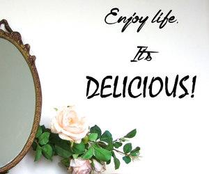 enjoy life, home decor, and sticker image