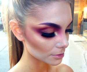 makeup, fashion, and eyes image