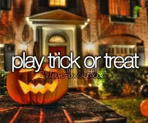 Halloween, play, and trick or treat image