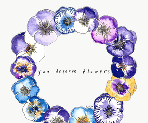 flowers, wallpaper, and quote image