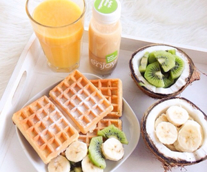 healthy, banana, and food image