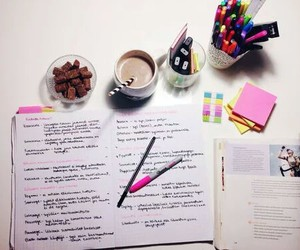 study, school, and note image