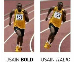 funny, lol, and usain bolt image