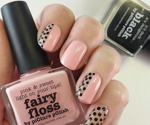 pink, black, and nails image