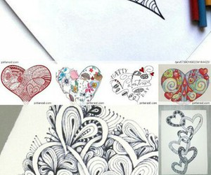 beautiful, drawing, and heart image