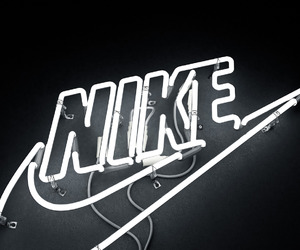 nike, light, and black image