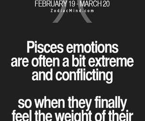 emotions, pisces, and zodiac image