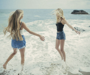 beach, bff, and summer image
