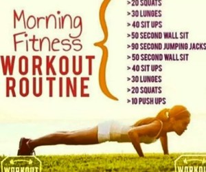 fitness, workout, and routine image