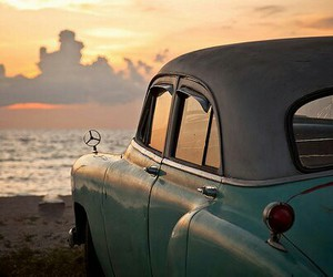 car, sunset, and photography image