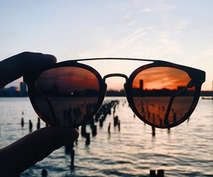 sunglasses, beach, and summer image
