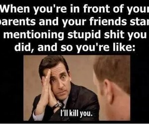 funny, friends, and parents image