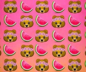 bear, watermelon, and emoji image