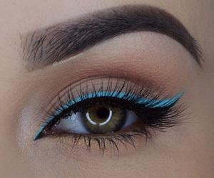 blue, eye, and eyeliner image
