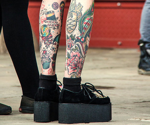 tattoo, creepers, and grunge image