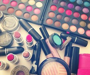 makeup, make up, and lipstick image
