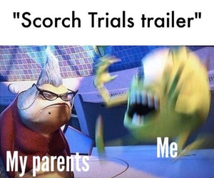 funny, maze runner, and the scorch trials image