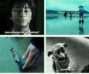 dobby, harry potter, and sad image