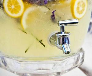 drink, lavender, and lemonade image