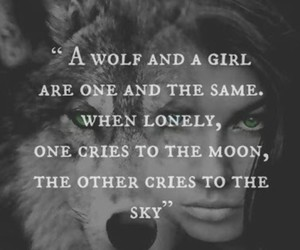 broken, girl, and wolf image