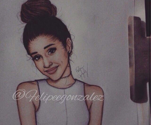 art, ariana, and grande image