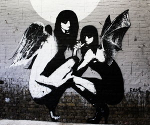 bansky, street art, and graffiti image