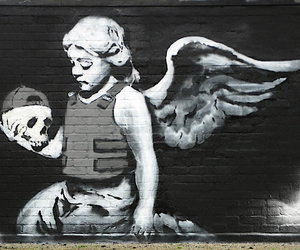 angel, BANKSY, and art image