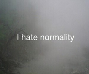 hate, normality, and dark image