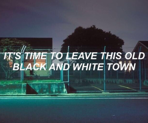 grunge, quotes, and leave image