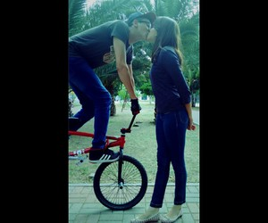 bmx, couple, and Relationship image