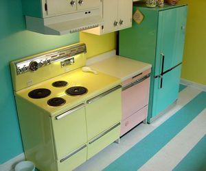 kitchen, pastel, and vintage image
