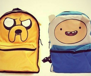 adventure time, backpack, and finn image