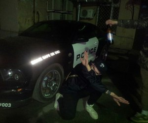grunge, police, and black image