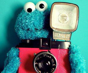 blue, camera, and cookie image