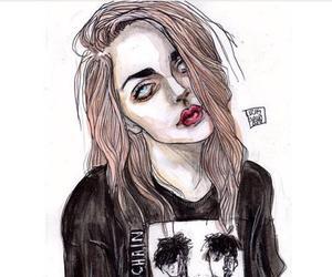 drawing, frances bean cobain, and grunge image