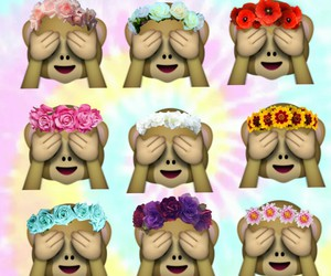 cool, flower crown, and tie dye image