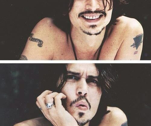 actor, handsome, and johnny depp image