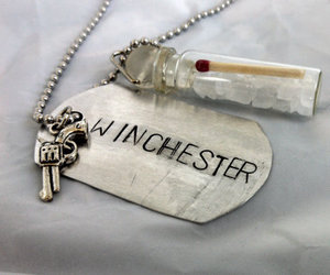 dean, necklace, and supernatural image