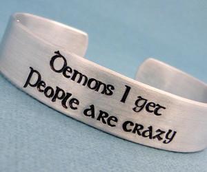 bracelet, dean, and demons image