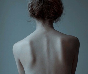 back, dark, and flowers image