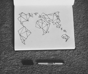 drawing, doodle, and world image