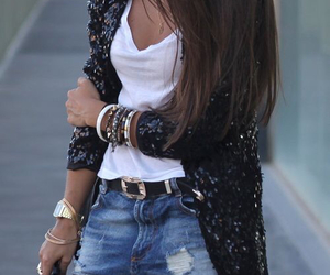 belt, bracelets, and outfit image