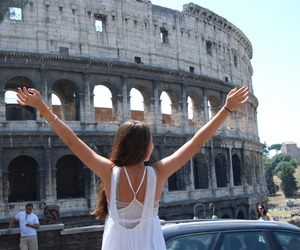 girl, rome, and travel image