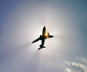 sun, fly, and plane image